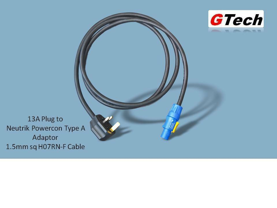 13A Plug to Neutrik Powercon Type A - 1.5mm H07RN-F Cable - EVENT ...