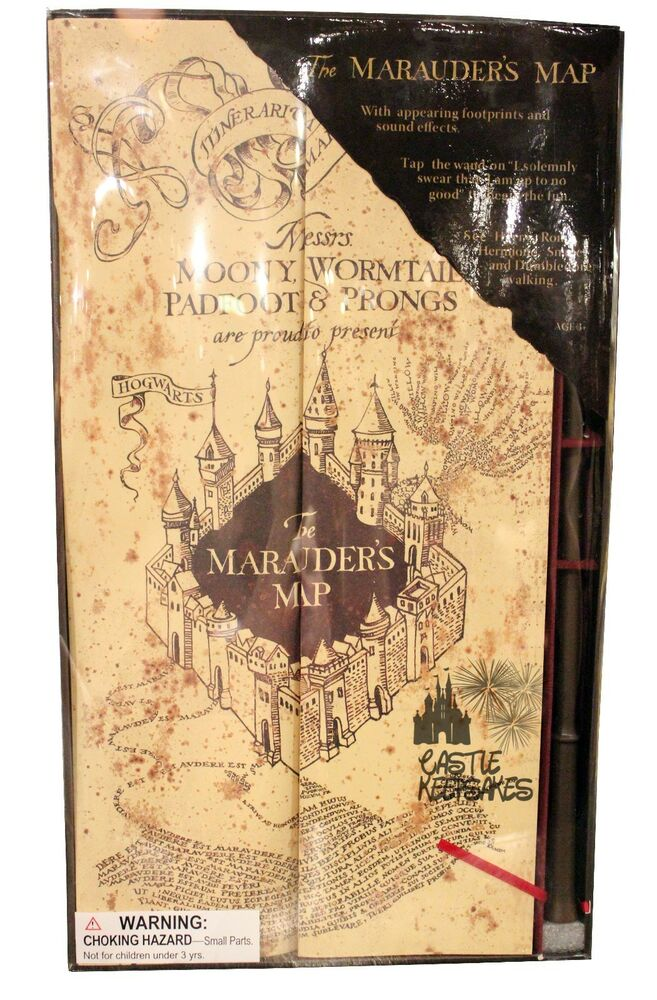 Wizarding world harry potter marauders map w wand for Harry potter ivy wand