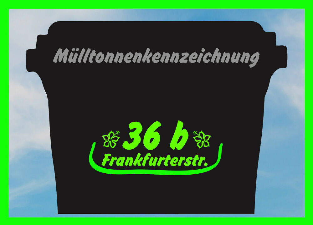 m lltonnenkennzeichnung f r 3 m lltonnen komposttonne sticker aufkleber ebay. Black Bedroom Furniture Sets. Home Design Ideas