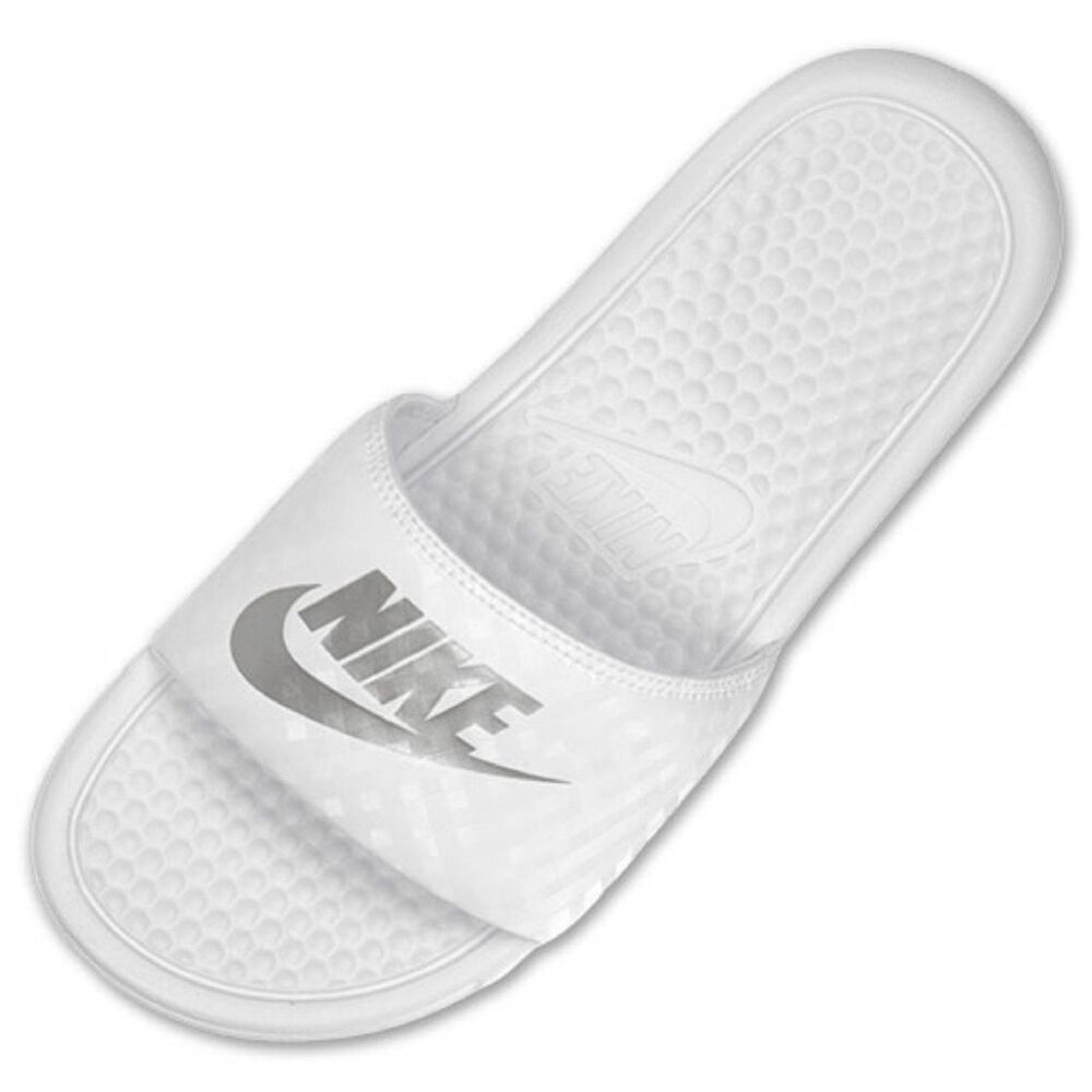 nike benassi JDI white slide sandal Women's White/metallic ...