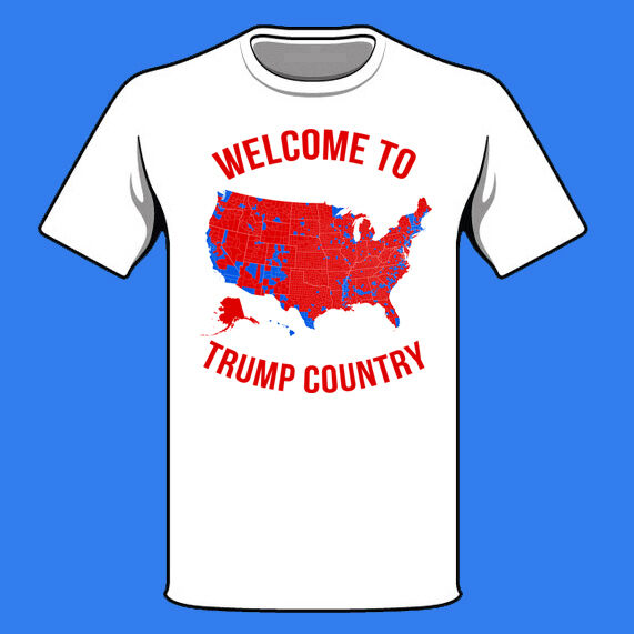 Donald Trump Inauguration Shirt Voter Map Red States