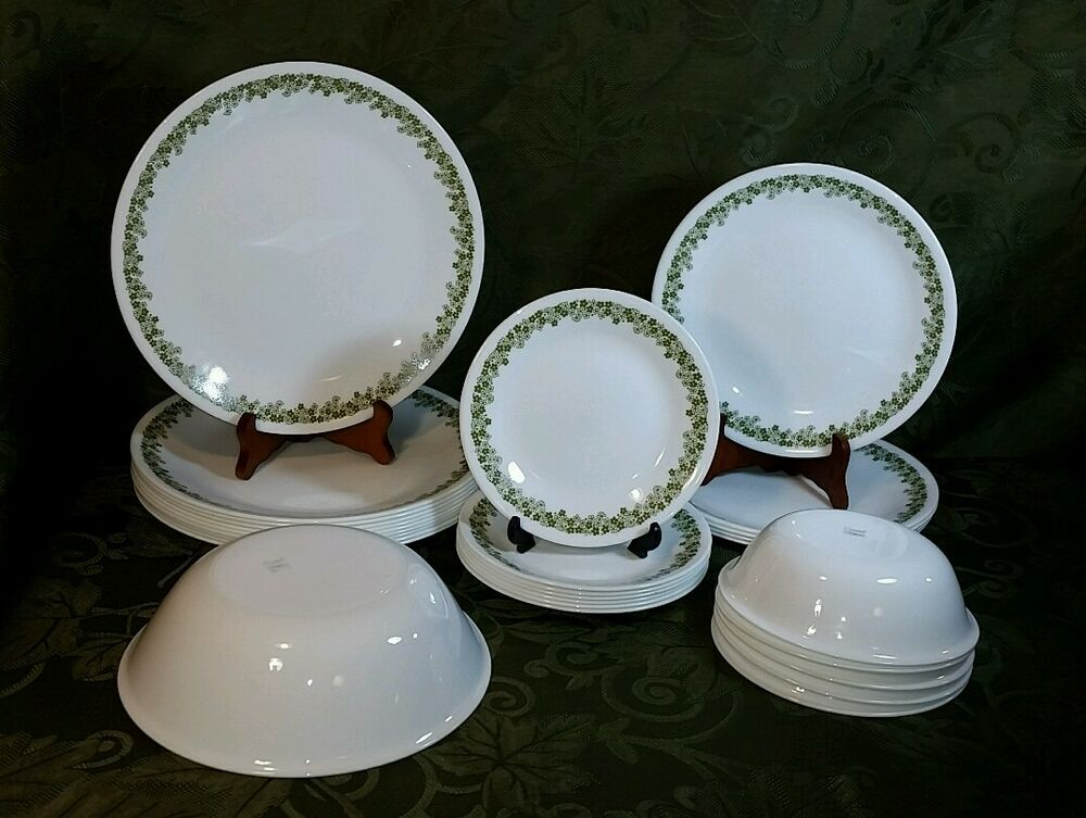 Vintage Corelle Corning Ware Crazy Daisy Spring Blossom 28 & Corning Dinnerware - Castrophotos