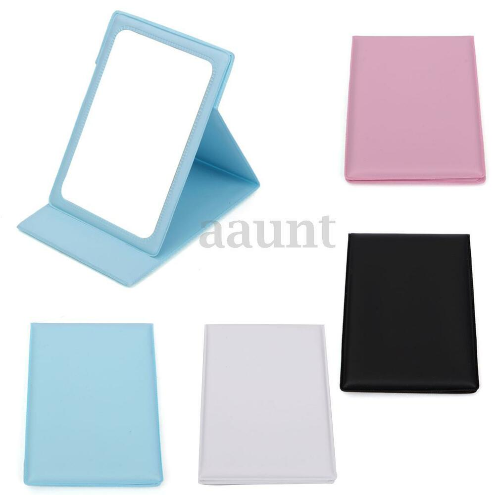Cosmetic Makeup Folding Pocket Mirror Stand Compact Travel