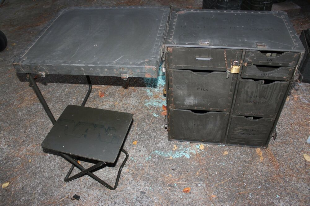 Field Desk Portable US Military Surplus Wood Army Navy ...