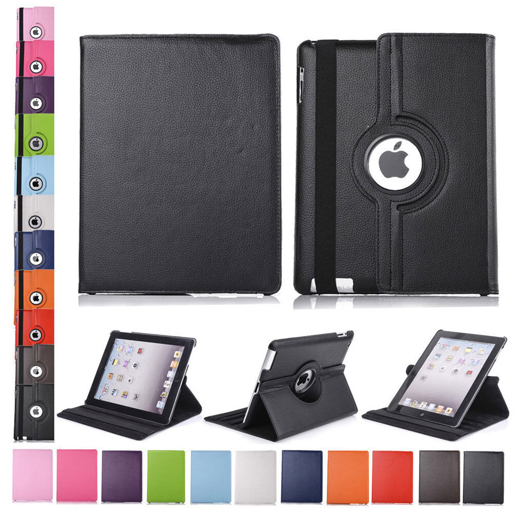 360 rotating pu leather folio case smart cover stand for. Black Bedroom Furniture Sets. Home Design Ideas