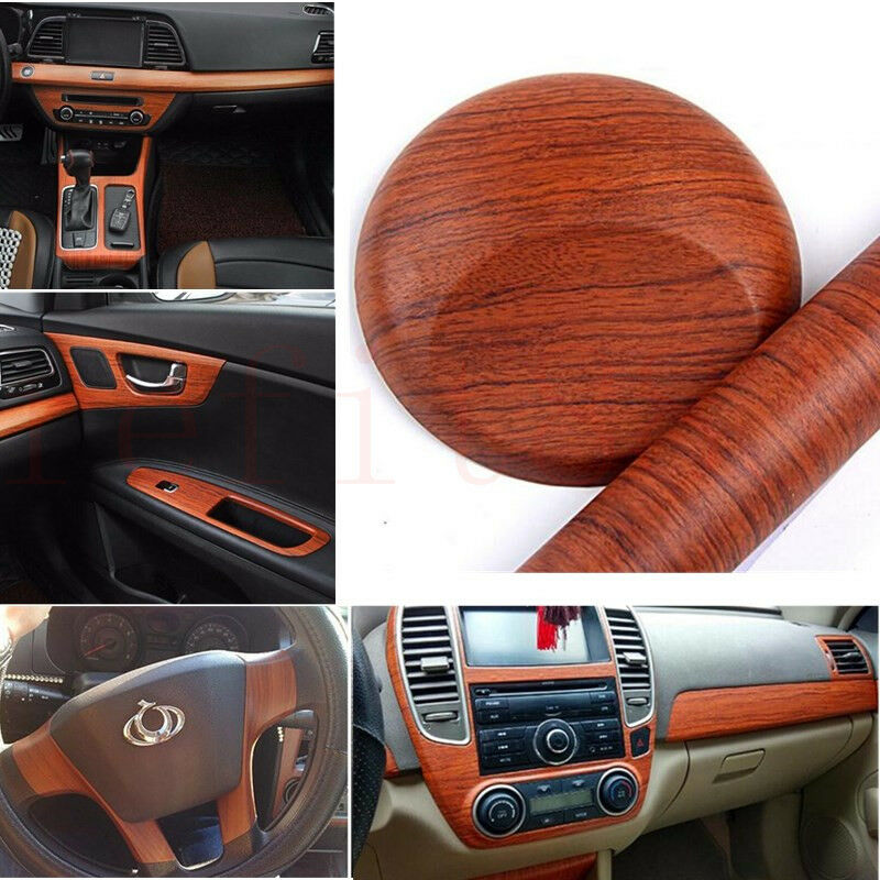 rosewood brown wood grain texture car vinyl wrap sticker decal film 18 x 48inch ebay. Black Bedroom Furniture Sets. Home Design Ideas