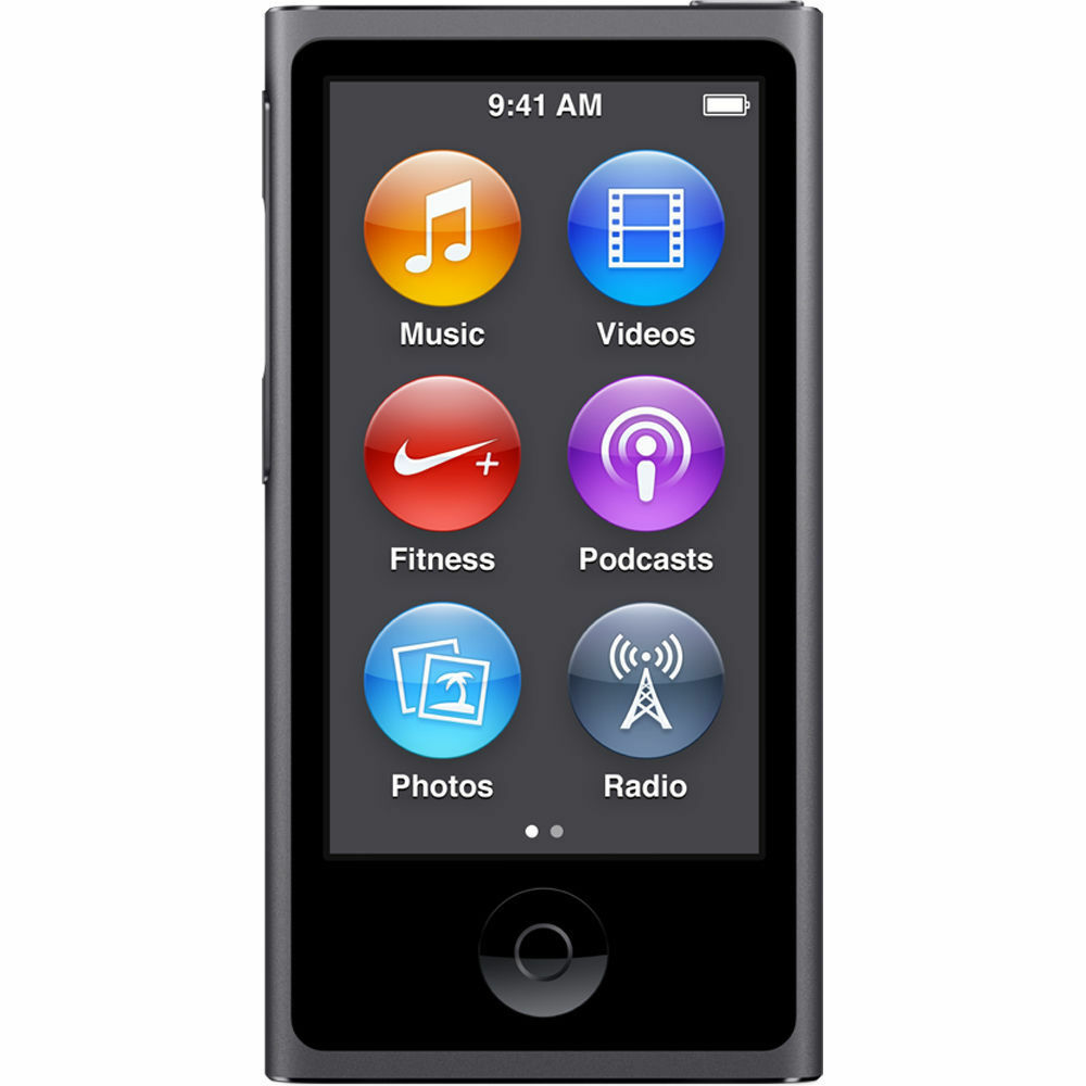 brand new apple ipod nano 7th generation space gray 16gb. Black Bedroom Furniture Sets. Home Design Ideas