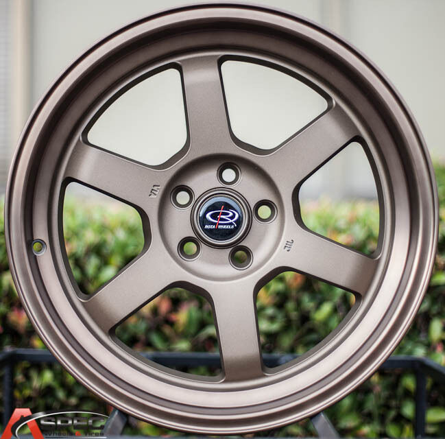 17x9 42 Rota Grid V 5x100 Speed Bronze Rims Fit Legacy