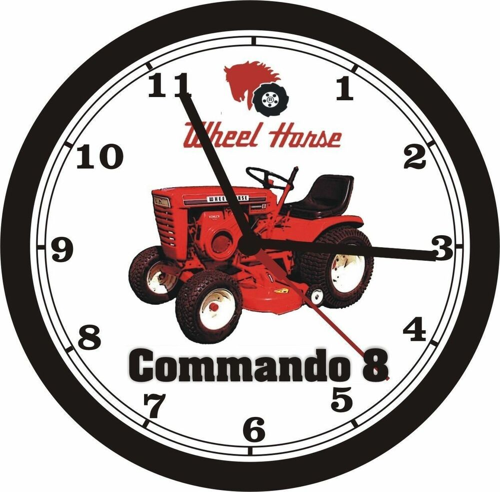 Wheel Horse Commando 8 Wall Clock New Ebay