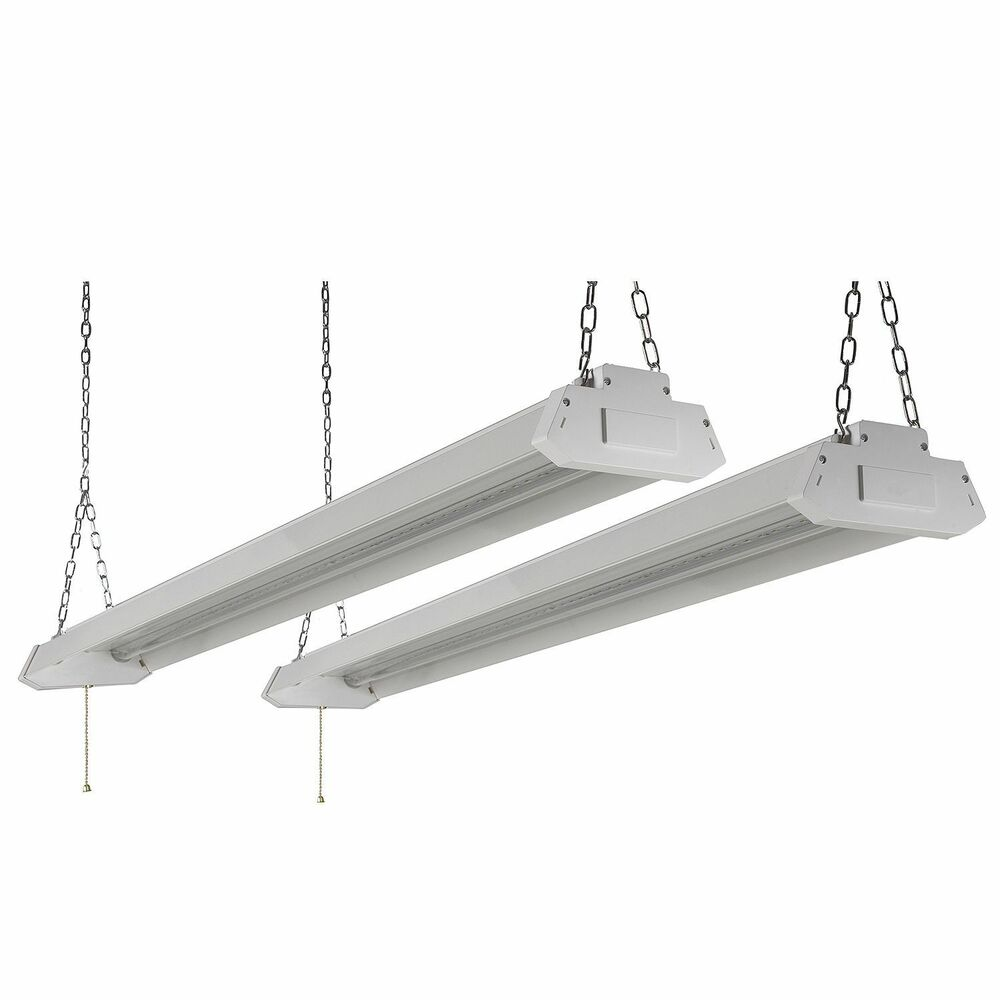 Led Light Fixture Pictures: New Honeywell LED 4' Shop Lights (2-Pk) White Garage Work