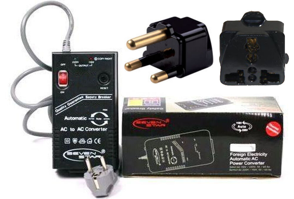 Details About 300 Watt Compact Voltage Converter South Africa Plug 110v 220v 220 110 Volt