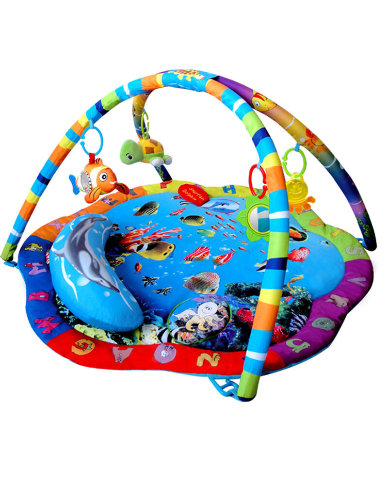 musical ocean sealife baby toy play mat activity gym  ebay -