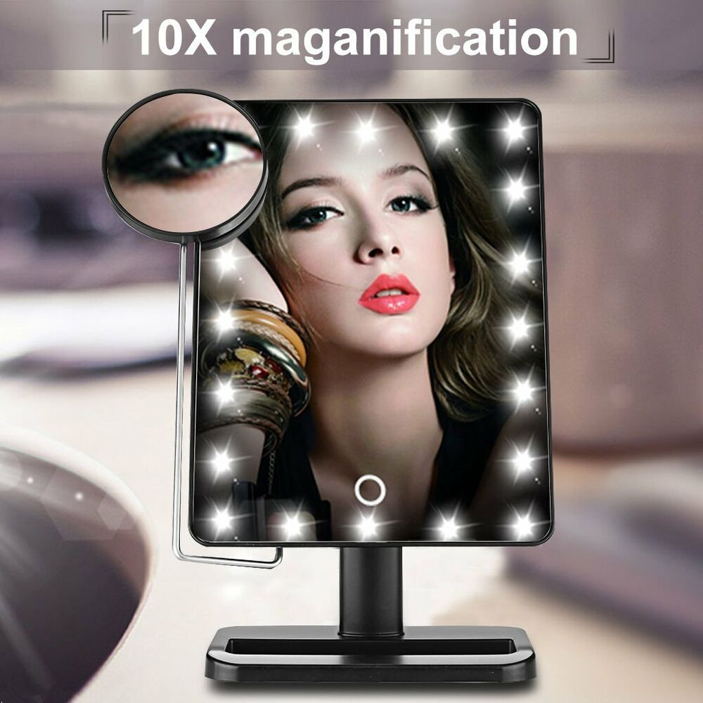 Touch Screen Cosmetic Mirror Led Lighted Compact Makeup