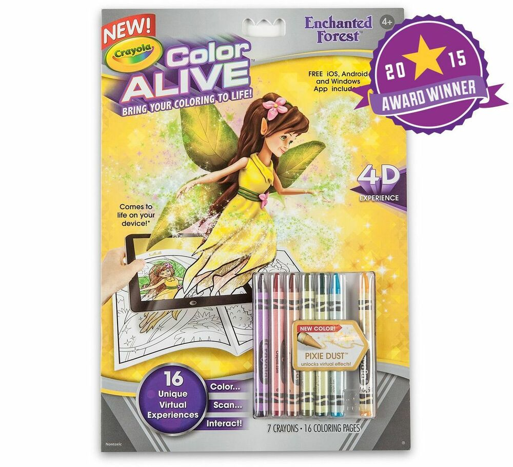 Crayola Color Alive Enchanted Forest Book 4D Experience