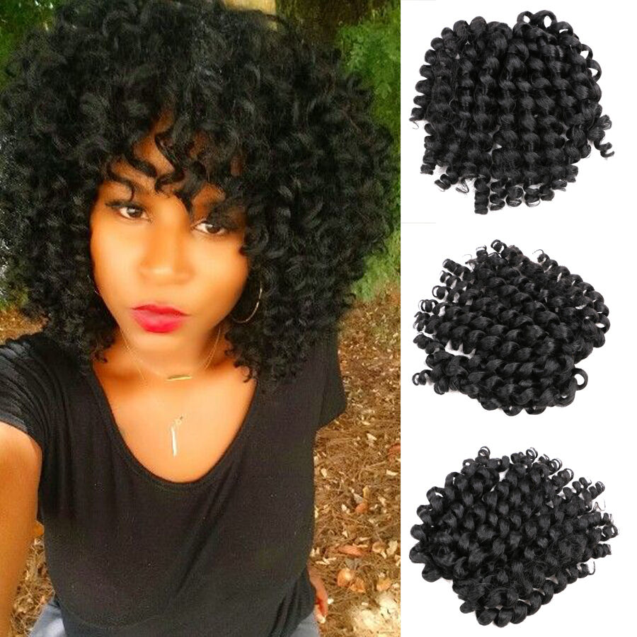 8 Quot Crochet Hair Extensions Black Braiding Twist Hair