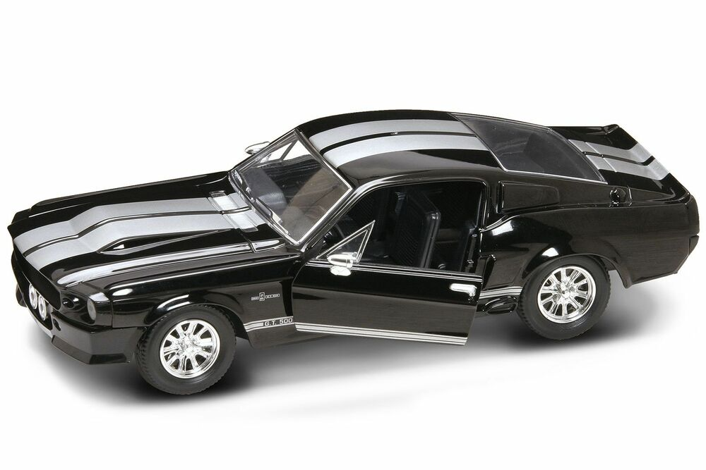 lucky diecast 1 24 ford shelby mustang gt 500 1967 schwarz. Black Bedroom Furniture Sets. Home Design Ideas