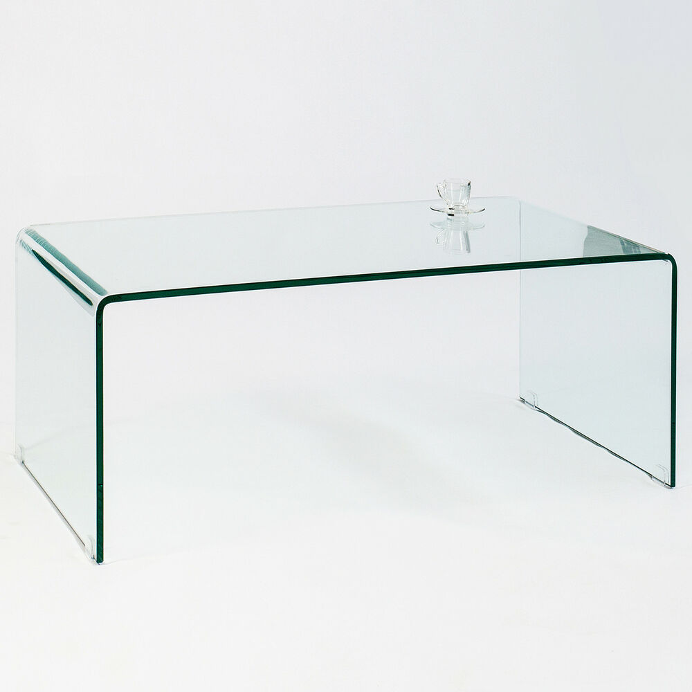Extravaganter Glas Couchtisch GHOST 110cm transparent