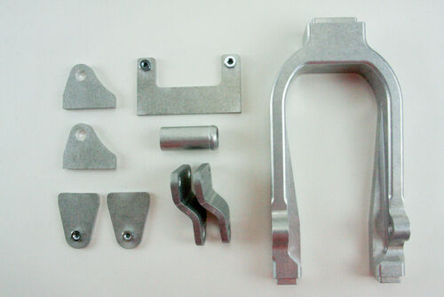 Complete aluminum frame conversion kit for 02-07 CR125 to CR500 ...