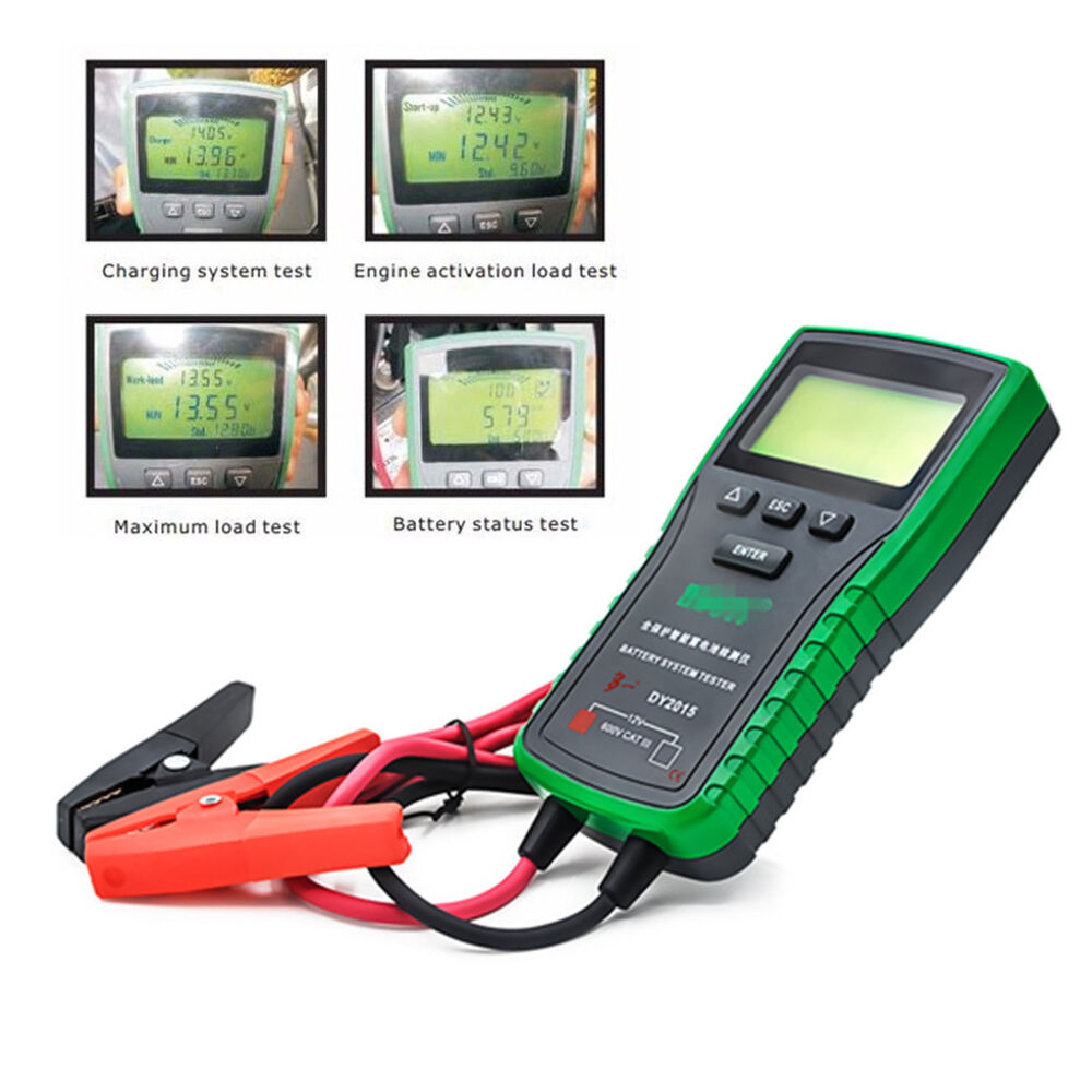Auto Battery Load Tester : Universal dy a digital automotive car battery load