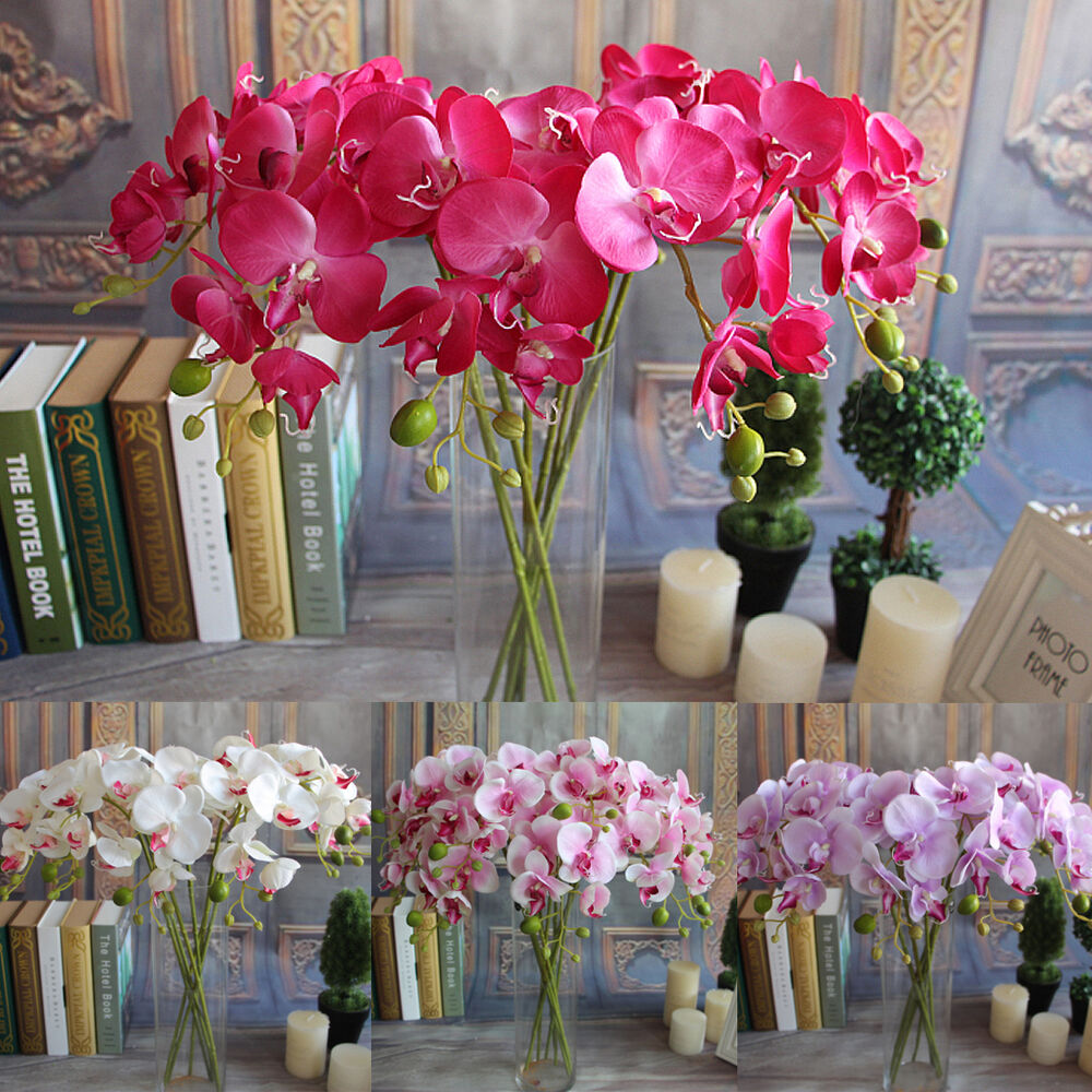 Artificial Plants Simulation Decorative Butterfly Orchid Silk Flowers Home Decor Ebay