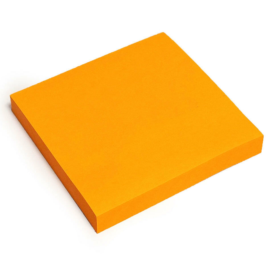 400 NEON ORANGE Removable Sticky Post It Notes Pads 76mm x ...