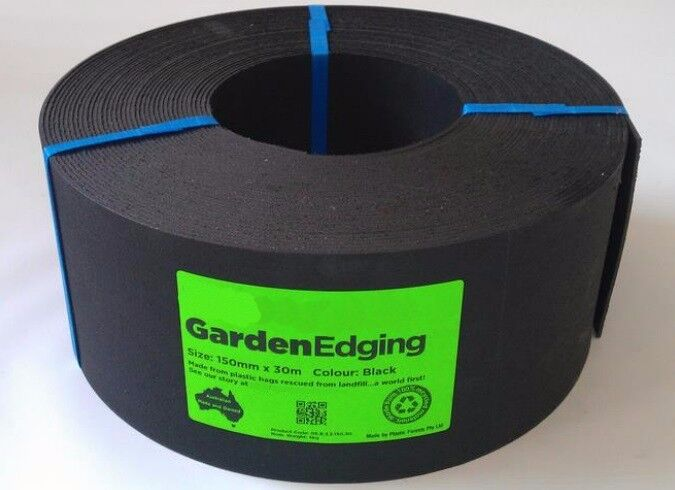 Landscaping Black Plastic Sheeting : M roll of mm high black recycled plastic garden