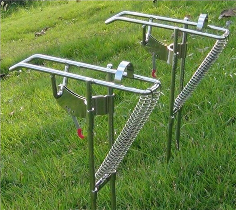 Stainless Steel Double Spring Stand Bracket Holder Rack Rod Pole Fishing Tackles | eBay