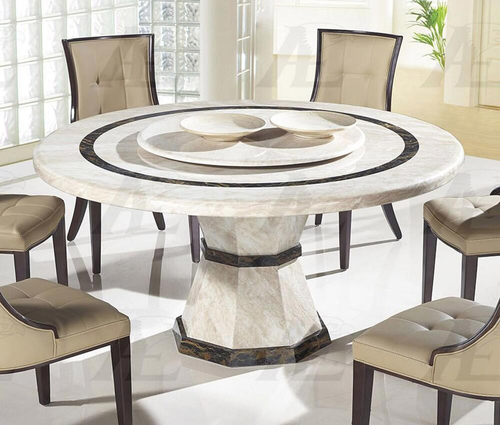 American eagle dt h38 beige marble top round dining table for Marble top dining table