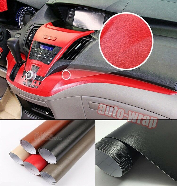 all sizes pvc car interior furniture leather vinyl wrap sticker decal film ebay. Black Bedroom Furniture Sets. Home Design Ideas