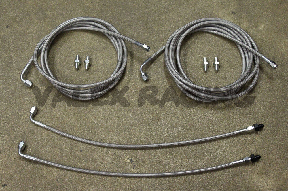 Details About Complete Stainless Rear Brake Line Replacement Kit 01 05 Honda Civic Em2 W O Abs