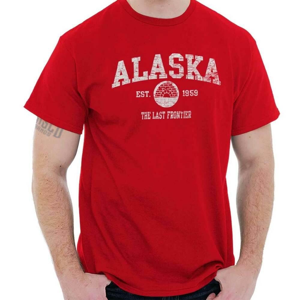 Alaska Vintage State Graphic Retro Hometown T-Shirt Tee