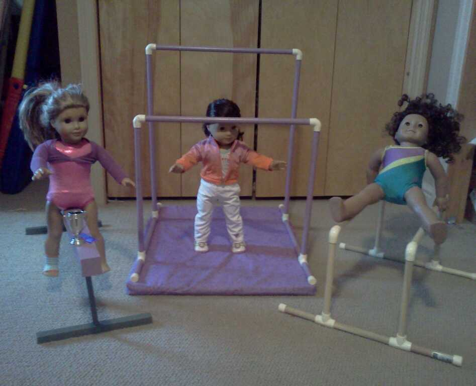 Made To Fit American Girl Doll Gymnastics Beam Bars And