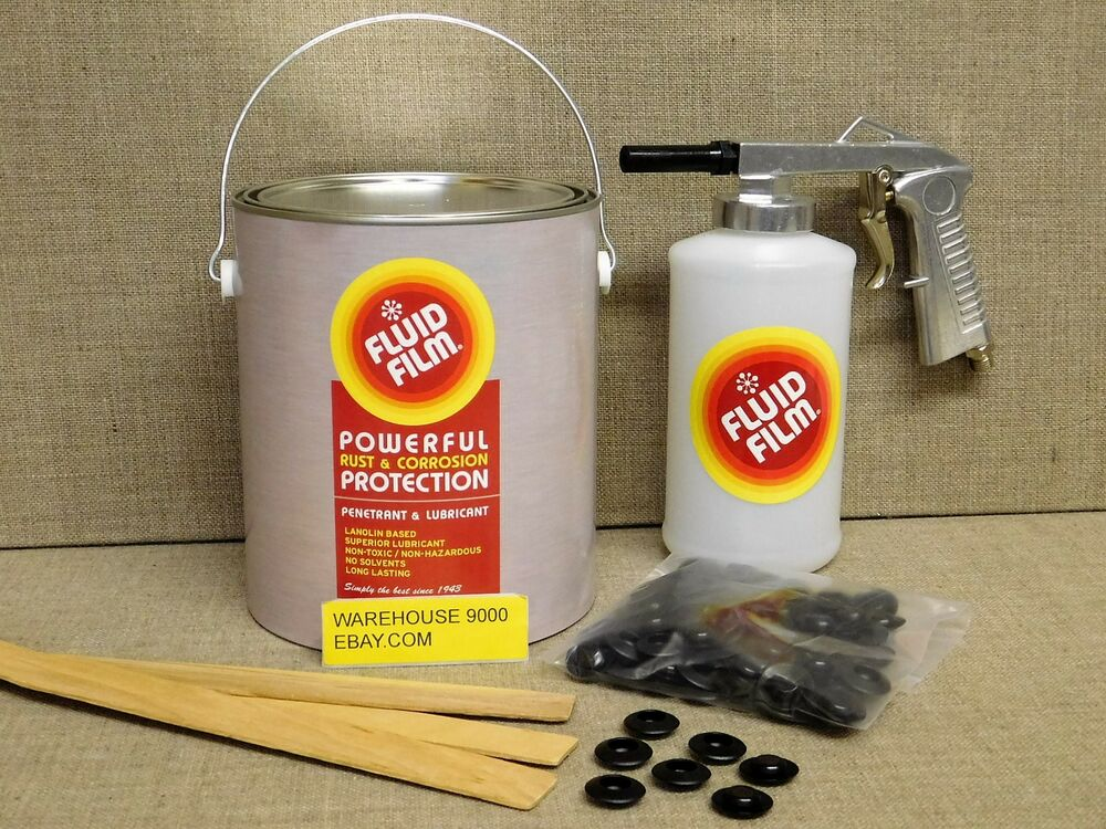 gallon fluid film undercoating with standard spray gun. Black Bedroom Furniture Sets. Home Design Ideas