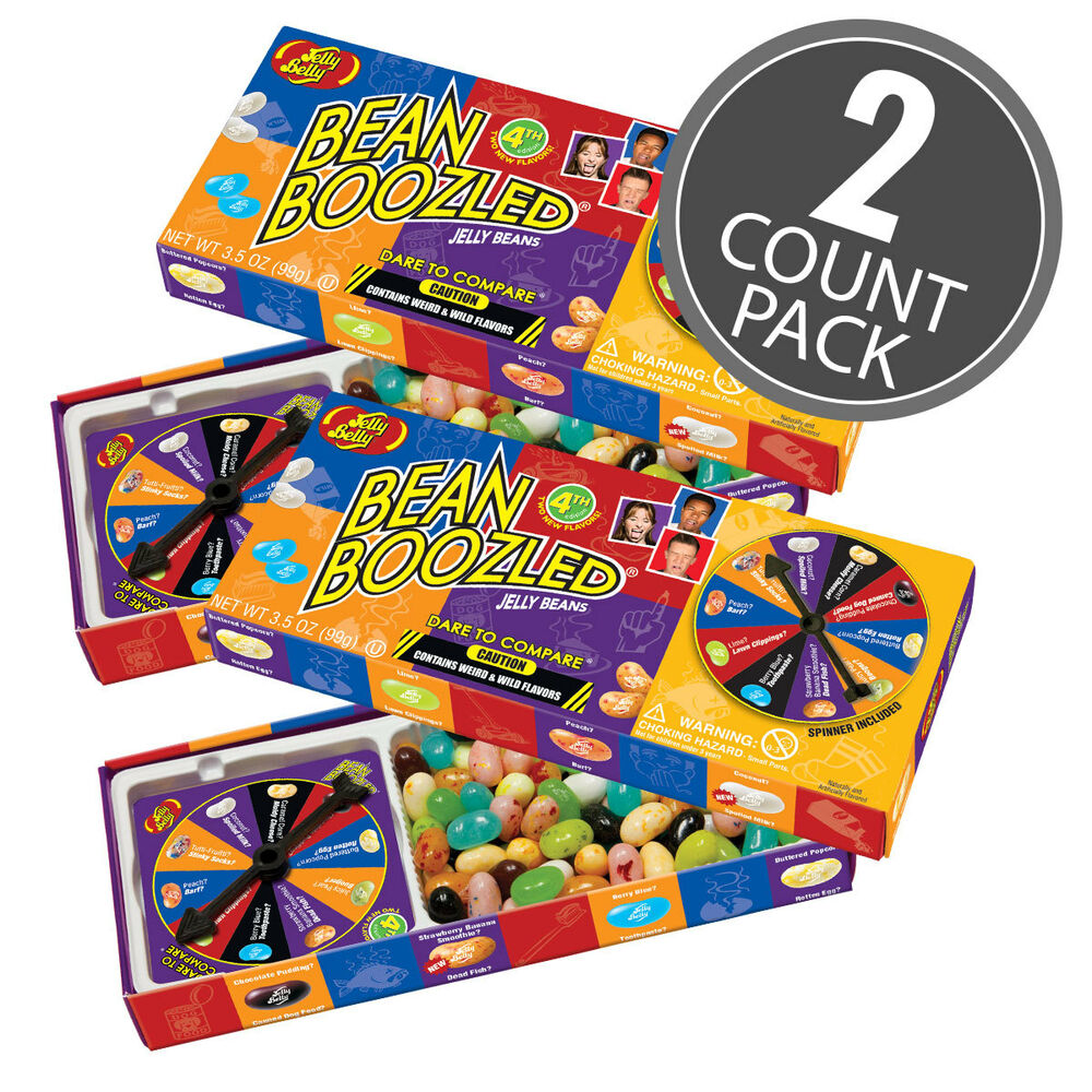 2 Pack Beanboozled Spinner Game 35oz Jelly Belly Weird Wild Flavors Candy Ebay