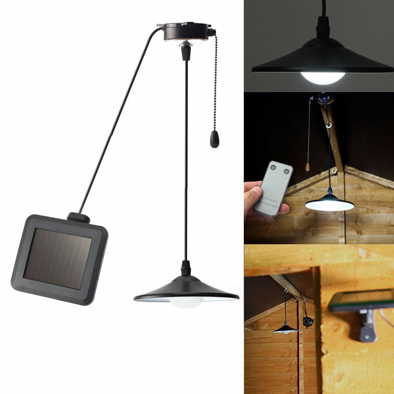 Solar Powered Shed Patio Light Outdoor String Led Hanging