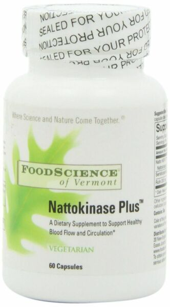 New Food Science Of Vermont Specialty Supplement Nattokinase Plus 150 Mg 60 Tabs