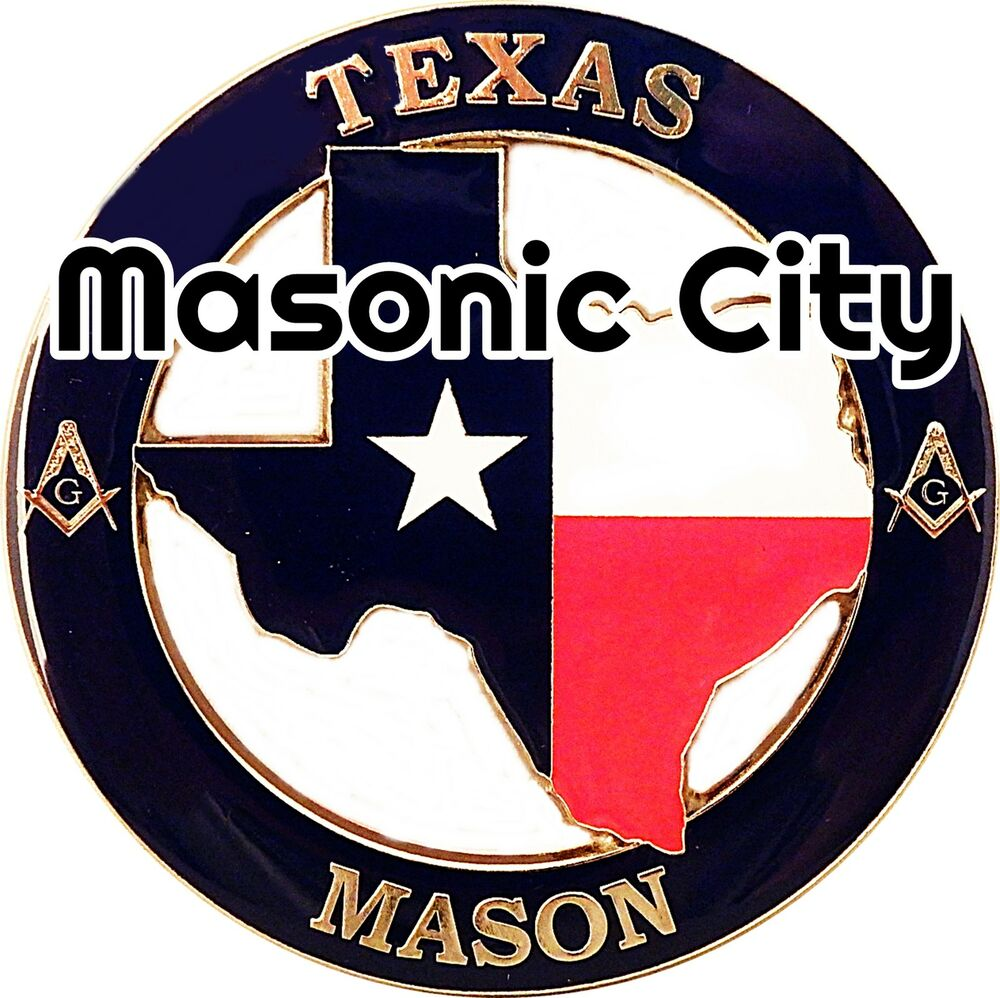 Z 154 texas masonic auto emblem state series tx for Royal motors houston tx