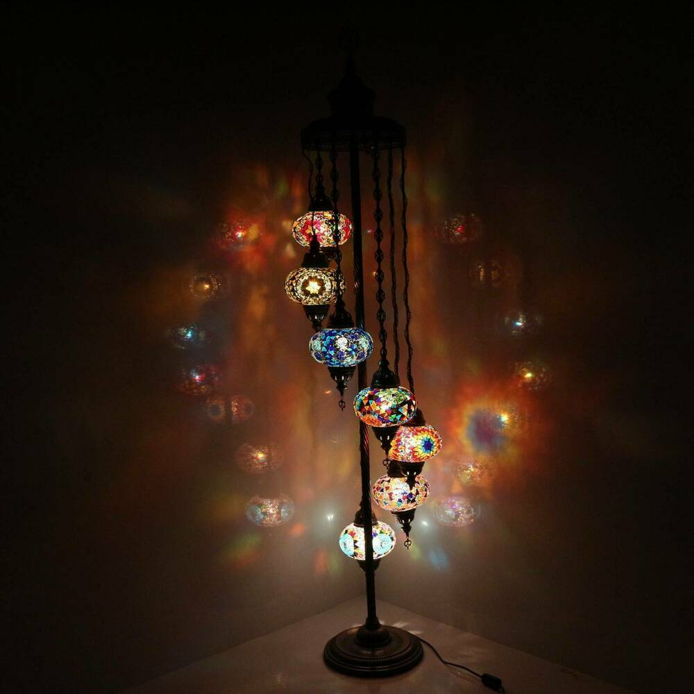 Handmade Multicolor Turkish Morrocan Mosaic Floor Lamp ...