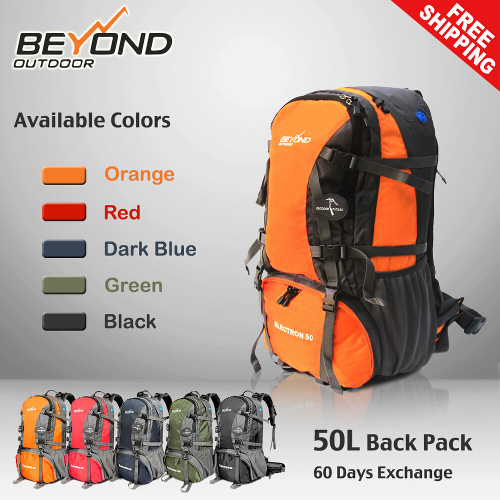 50l rucksack camping camp hiking mountain travel backpack equipment gear bag ebay