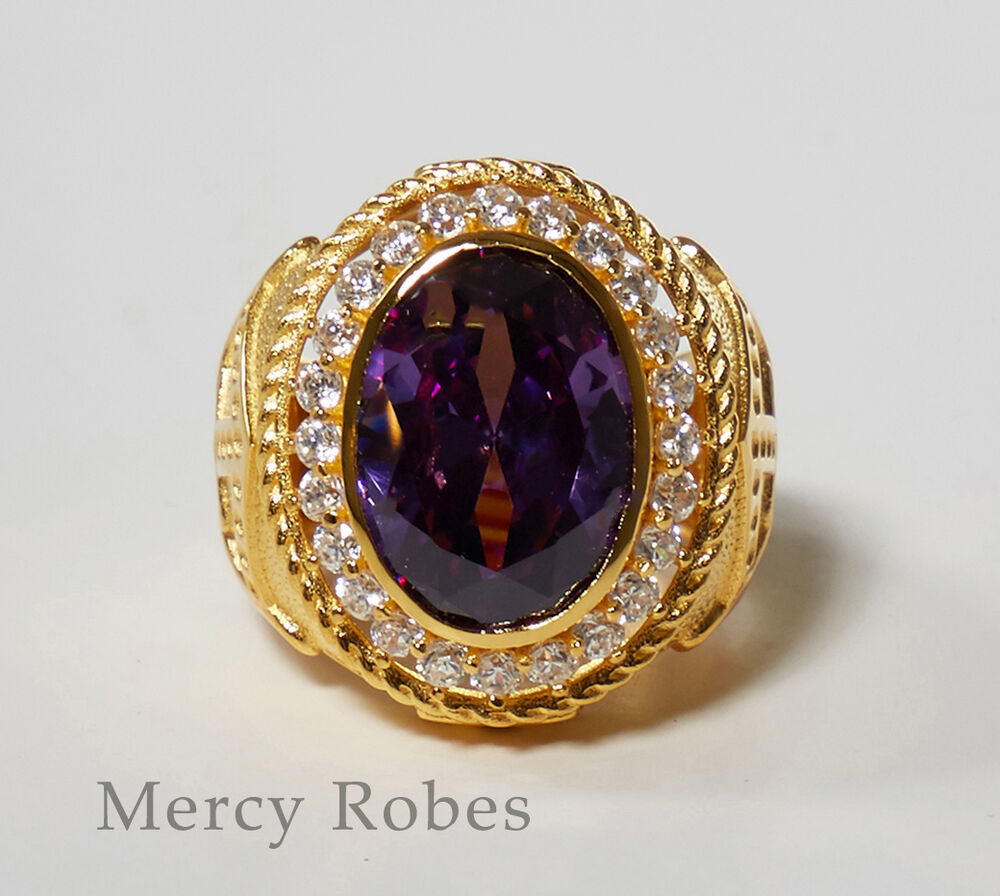 Men's Bishop Ring, Clergy, Style (subs860 Gpurple)  Ebay. Tray Design Wedding Rings. Promise Rings Engagement Rings. Neha Name Wedding Rings. Round Shape Engagement Wedding Rings. Rocker Engagement Rings. 5mm Wedding Rings. Layered Wedding Rings. Simple Style Wedding Rings