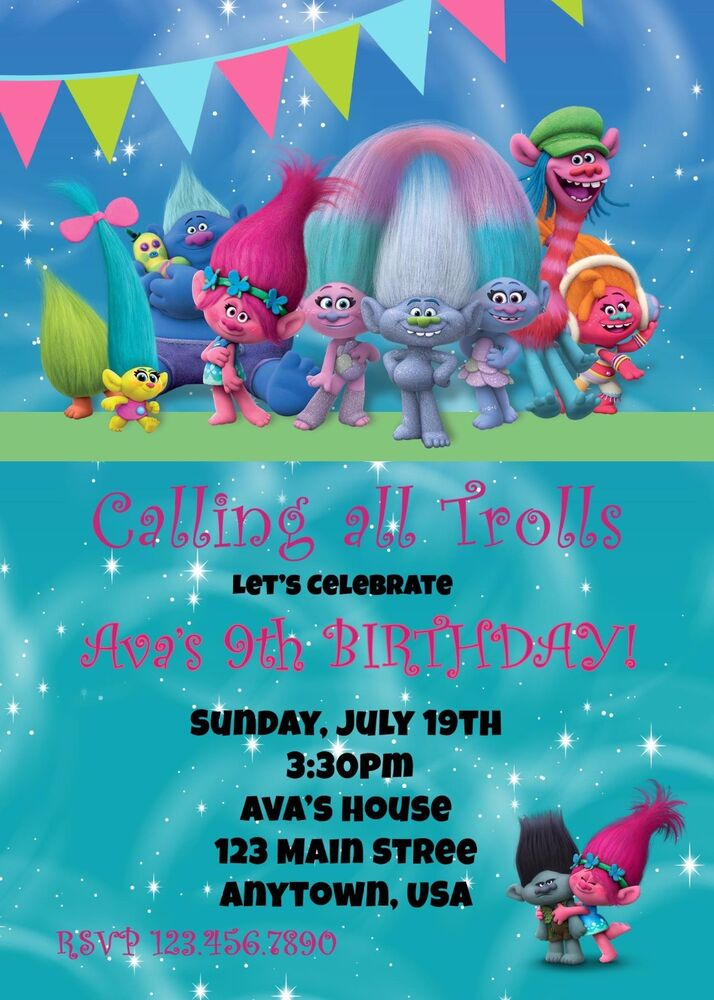 It's just a picture of Resource Trolls Birthday Invitations Printable