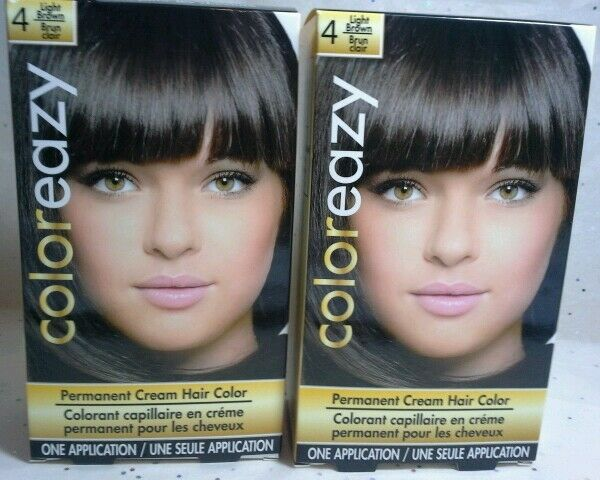 Two Color Hair Styles: 2 Color Eazy Permanent Cream Hair Color Dye, Light Brown