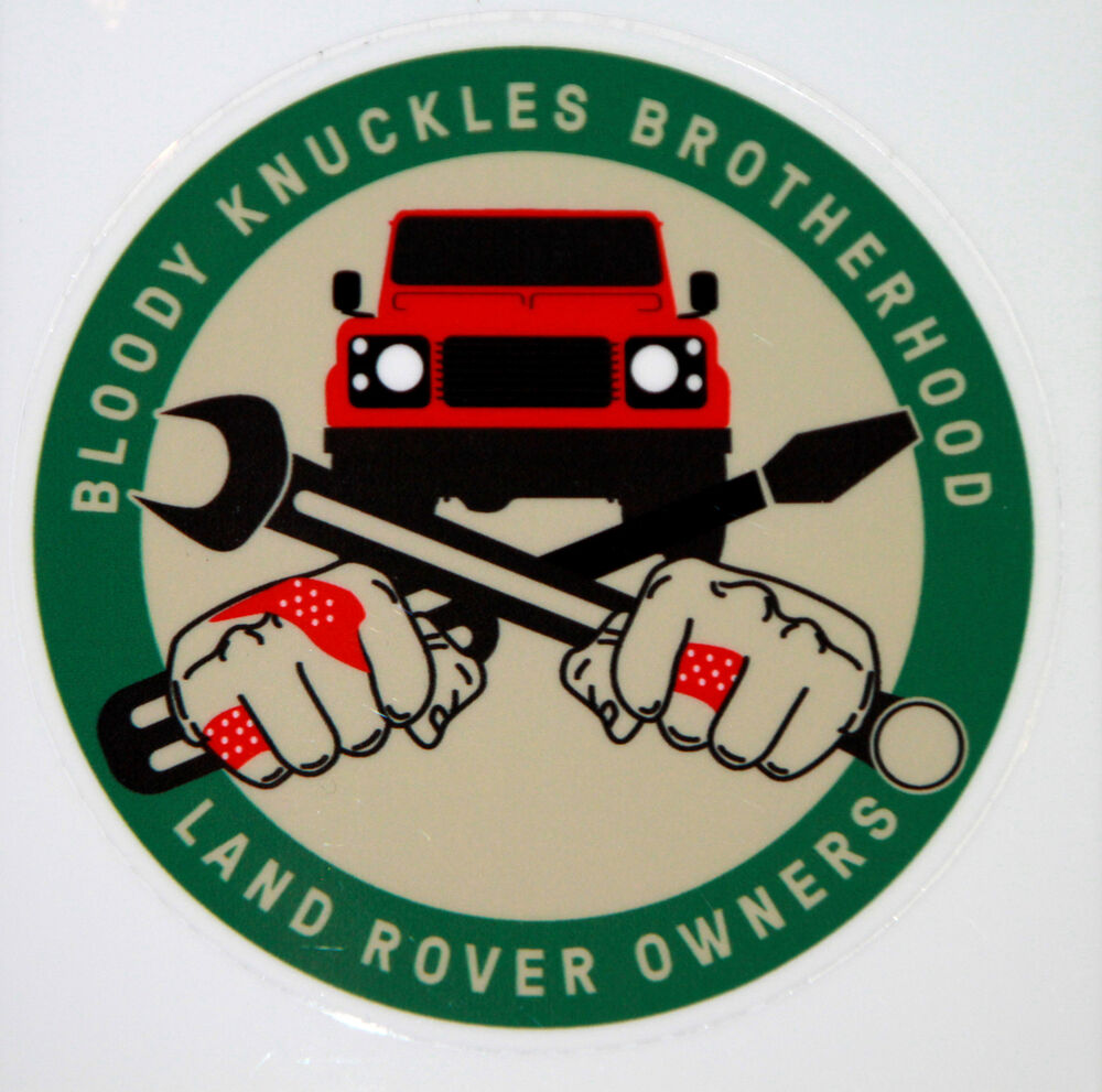 "Landrover Discovery Side Stripe Decals Stickers Land Rover: Land Rover Series-Defender ""Bloody Knuckles Brotherhood"