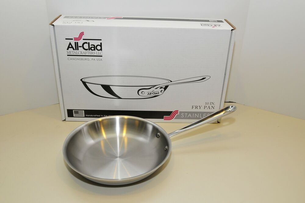 All Clad Stainless Steel 10 Quot Fry Pan New In Box 3 Ply