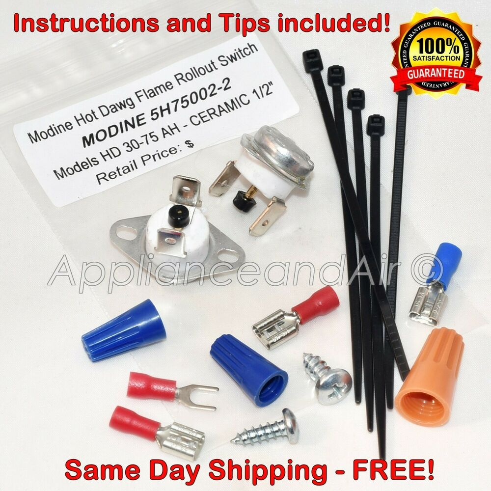 Gh 1038 Rollout Switch Manual Reset For Dgh Series Gas