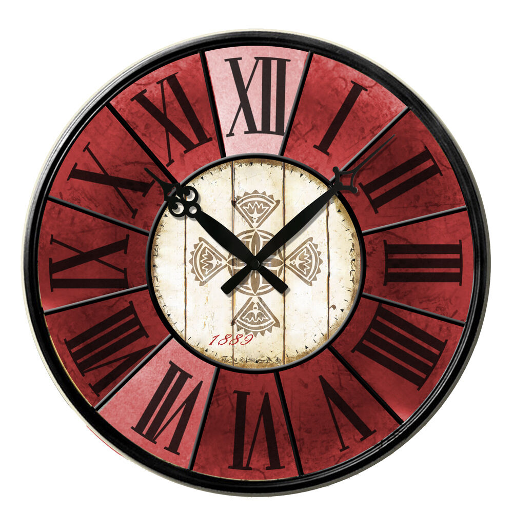 Retro Antique Wooden Vintage Style Wall Clocks Shabby Chic