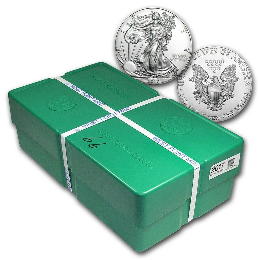 2017 1 Oz Silver American Eagle Bu Monster Box Of 500oz