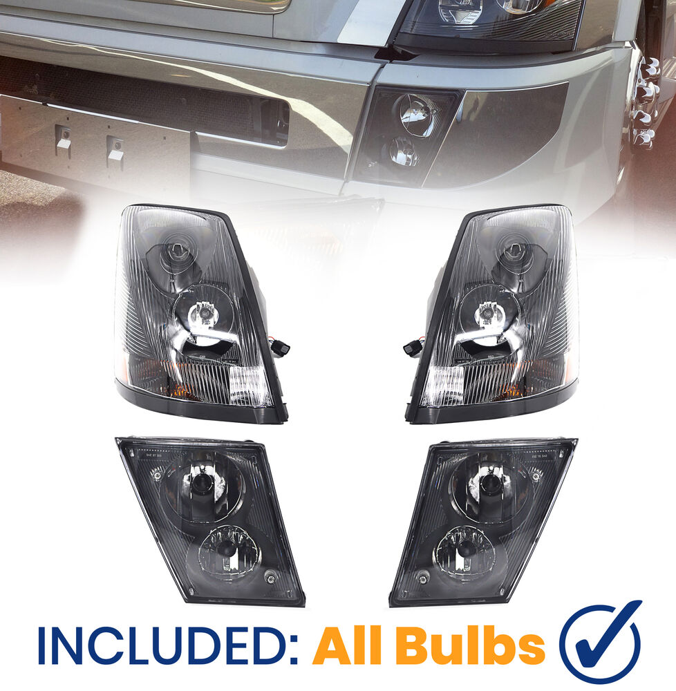 NEW 2004-2015 Volvo VN VNL VNM Truck Headlight & Fog Light ...