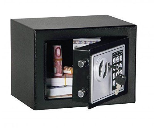Digital electronic safe small black box combo keypad lock for Small safe box for home