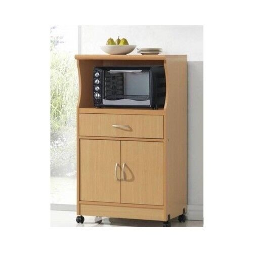 Kitchen Cabinet Microwave Shelf: Microwave Cart With Storage Kitchen Stand Rolling Cabinet Shelf Drawer Island